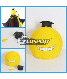 Assassination Classroom Korosensei Cosplay Yellow Mask Helmet + Hat
