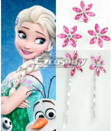 2015 Short Disney Film Frozen Fever Elsa Queen Birthday Party Cosplay Hairpin with 5 Pcs