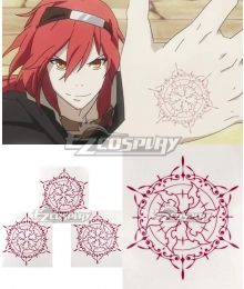 Rokka Braves of the Six Flowers Rokka no Yusha Adlet Myer Nachetanya Loei Piena Augustra Flamie Speeddraw Goldov Auora Chamot Rosso Maura Chester Hans Humpty Tattoo stickers Cosplay Accessory Prop