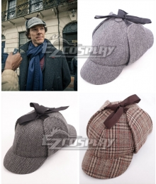 Sherlock The Abominable Bride Sherlock Holmes Deerstalker Hat Cosplay Accessory Prop SLK02