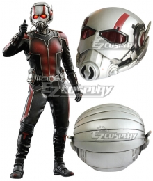 Marvel Ant Man Henry Hank Pym Helmet Mask Silver Cosplay Accessory Prop