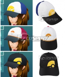 Pokémon GO Pokemon Pocket Monster Trainer Female Blue Red Black Hat Cosplay Accessory Prop