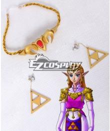 The Legend of Zelda: Ocarina of Time Princess Zelda Headwear Earring Cosplay Accessory Prop