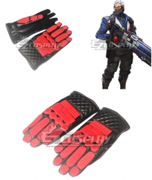 "Overwatch OW Soldier 76 John ""Jack"" Morrison Gloves Cosplay Accessory Prop"