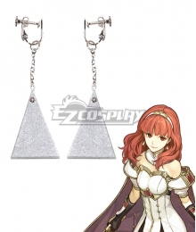 Fire Emblem Echoes: Shadows of Valentia Celica Earrings Cosplay Accessory Prop