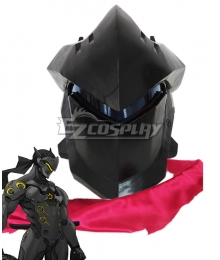 Overwatch OW Genji Black Helmet Cosplay Accessory Prop