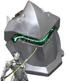 Overwatch OW Genji Shimada Mask FRP Cosplay Accessory Prop
