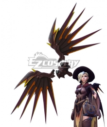 Overwatch OW Mercy Angela Ziegler All Saints'Day Witch Wing Cosplay Accessory Prop
