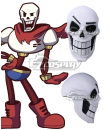 Undertale Papyrus Mask Halloween Cosplay Accessory Prop