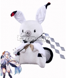 Vocaloid Snow Miku 2018 Doll rabbit and Magic wand Cosplay Accessory Prop