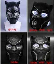 Marvel Black Panther 2018 Movie T'Challa Black Panther New Mask Cosplay Accessory Prop