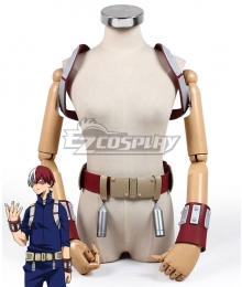 My Hero Academia Boku No Hero Akademia Shoto Todoroki Battle Suit Gauntlets Strap Belt Cosplay Costume