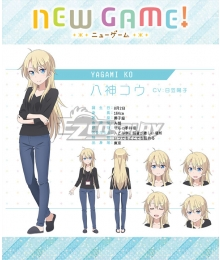 New Game! Ko Yagami Cosplay Costume