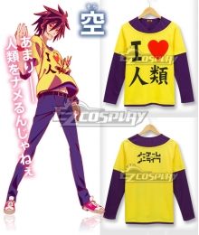 No Game No Life Sora Original Edition Long Sleeve Cosplay Costume