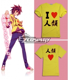No Game No Life Sora Original Edition Short Sleeve Cosplay Costume