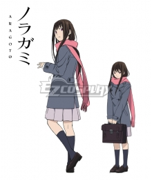 Noragami Aragoto Hiyori Iki Cosplay Costume - Only Coat and Scarf