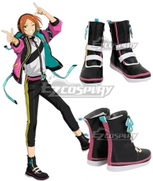 Ensemble Stars!!2 Hinata Aoi Yuta Aoi 2wink Black Shoes Cosplay Boots