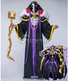 Overlord Ainz Ooal Gown A.K.A Momonga Cosplay Costume - Including Accessory And Weapon