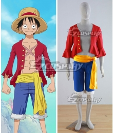 One Piece Monkey D Luffy Red Cosplay Costume