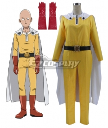 One Punch Man Saitama Caped Baldy Hagemanto Cosplay Costume