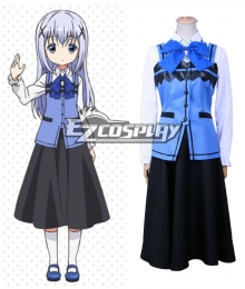 Gochuumon wa Usagi Desu ka? Is the Order a Rabbit? Chino Kafuu Cosplay Costume