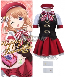 Gochuumon wa Usagi Desu ka? Is the Order a Rabbit? Hoto Kokoa Hot Cocoa Happy Valentine Cosplay Costume