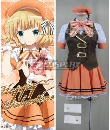 Gochuumon wa Usagi Desu ka? Is the Order a Rabbit? Syaro Kirima Happy Valentine Cosplay Costume