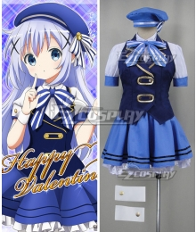 Gochuumon wa Usagi Desu ka? Is the Order a Rabbit? Chino Kafuu Happy Valentine Cosplay Costume