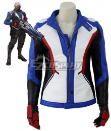 Overwatch OW Soldier 76 John Jack Morrison Cosplay Costume - Only Coat and Gloves