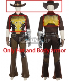 Overwatch OW Jesse McCree Cosplay Costume - Only Hat and Body armor