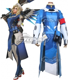 Overwatch OW Mercy Angela Ziegler Combat Medic Ziegler Cosplay Costume
