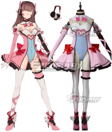 Overwatch OW Magic Girl D.Va DVa Hana Song Cosplay Costume
