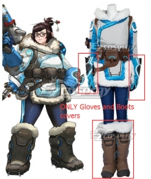 Overwatch OW Dr. Mei Ling Zhou Cosplay Costume - Gloves and Boots Covers ONLY