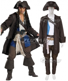 Pirates of the Caribbean 3 Captain Jack Sparrow Prestige Adult Costume