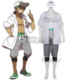 Pokemon Sun and Moon Professor Kukui Cosplay Costume