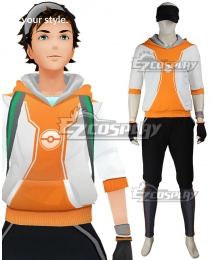 Pokémon GO Pokemon Pocket Monster Trainer Male Orange Cosplay Costume - A Edition