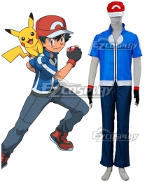 Pokémon XY Pokemon Pocket Monster Ash Ketchum Cosplay Costume