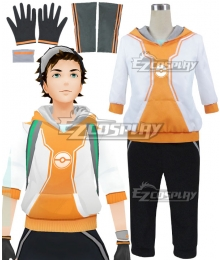 Pokémon GO Pokemon Pocket Monster Trainer Male Orange Cosplay Costume - B Edition