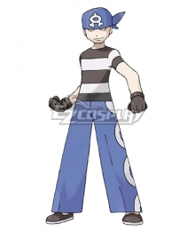Pokemon Team Aqua Grunt Male Cosplay Costume - B Edition