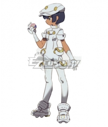 Pokemon Sun and Moon Aether Foundation Employee Female Cosplay Costume