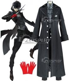 Persona 5 Joker Protagonist Akira Kurusu Ren Amamiya Cosplay Costume - Artificial Leather Top