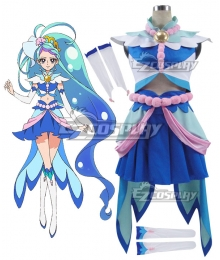 Go! Princess PreCure Minami Kaido Cure Mermaid Cosplay Costume - B Edition