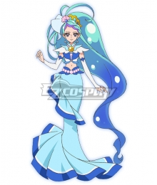 Go! Princess PreCure Minami Kaido Cure Mermaid Cosplay Costume - A Edition