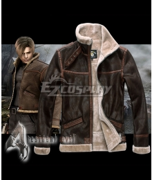 Resident Evil 4 Leon Scott Kennedy Coat PU Cosplay Costume