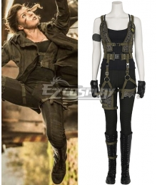 Resident Evil 6: The Final Chapter Alice Coat Jacket Cosplay Costume - Including Boots And Not Coat
