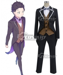Re: Life In A Different World From Zero Subaru Natsuki Uniform Cosplay Costume