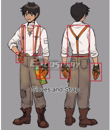RWBY Volume 4 Oscar Pine Cosplay Costume - Only Gloves and Strap