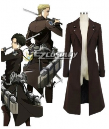 Attack on Titan Shingeki no Kyojin The Recon Corp Eren & Levi & Mikasa Wings of Counterattack Online Coat Cosplay Costume