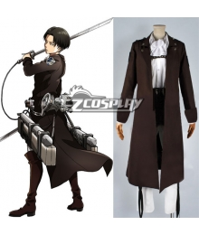 Attack on Titan Shingeki no Kyojin Special Night Fighting Soldiers Maneuver Rivaille Levi Cosplay Costume - No included Straps