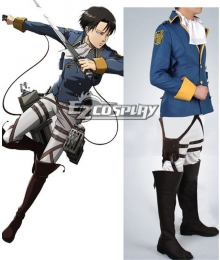 Attack on Titan Shingeki no Kyojin The Recon Corp Wings of Counterattack Online Rivaille Levi Cosplay Costume